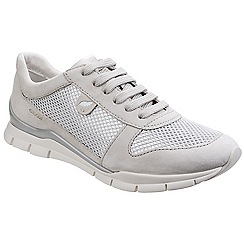 Geox - Ivory 'Sukie' leather lace up trainers