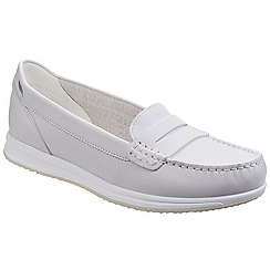 Geox - Off white 'Avery' slip on pumps
