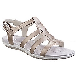 Geox - Champagne 'Sand Vega' leather sandals