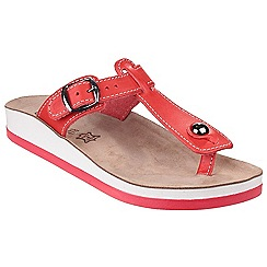 Fantasy - Red leather 'Krios' t-bar sandals