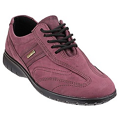 Cotswold - Purple leather 'Simbrook' lace up trainers