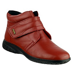 Cotswold - Red leather 'Chalford' ankle boots