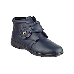Cotswold - Navy leather 'Tew' ankle boots