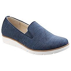 Divaz - Blue 'Mariah' slip on shoes