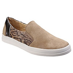 Divaz - Taupe 'Minaj' casual trainers