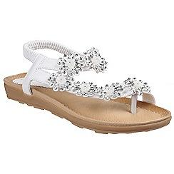Divaz - White lace 'Selena' ankle strap sandals