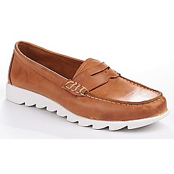 The Flexx - Brown leather 'Play A Track Lopez' loafers