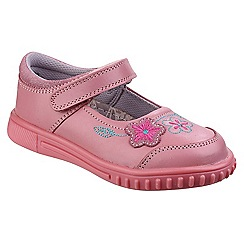 Hush Puppies - Girls' pink leather 'Lottie' mary janes
