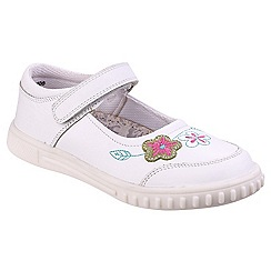 Hush Puppies - Girls' white leather 'Lottie' mary janes