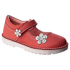 Hush Puppies - Red leather 'Beth' mary janes