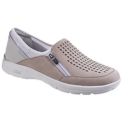 Rockport - Taupe leather 'Truflex W' casual trainers