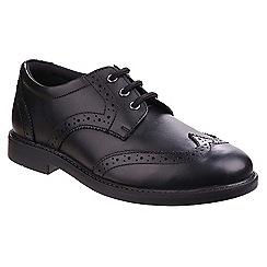 Hush Puppies - Boys' black leather 'Harry' brogues