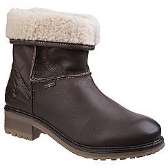 Cotswold - Dark olive leather 'Bampton' mid heel block heel ankle boots