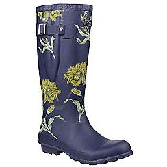 Cotswold - Blue 'WINDSOR PRINT' block heel calf boots