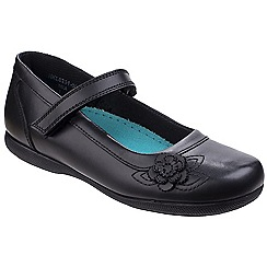 Hush Puppies - Black leather 'Mia Junior' mary janes shoes
