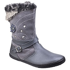 Hush Puppies - Grey leather 'Pippa' ankle boots