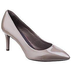 Rockport - Taupe patent 'Total Motion Plain Pump' court shoes