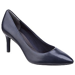 Rockport - Blue patent 'Total Motion Plain Pump' court shoes