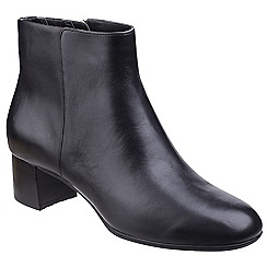 Rockport - Black leather 'Total Motion Novalie' mid heel ankle boots