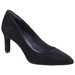 Rockport - Black leather 'Total Motion Valerie' court shoes