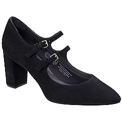 Rockport - Black leather 'Violina' court shoes