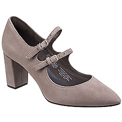 Rockport - Grey leather 'Violina' court shoes