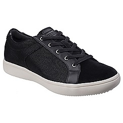 Rockport - Black leather 'ARIELL LACE TOE TRAINER' casual trainers