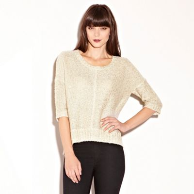 Gold Sequin Slouch Jumper