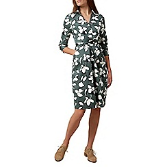 Hobbs - Light green 'Val' printed dress