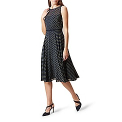 Hobbs - Navy 'Della' midi dress