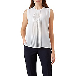 Hobbs - Ivory 'Sophie' sleeveless knit top