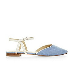 Hobbs - Pale blue 'Rose' twist flats