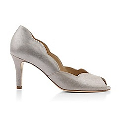 Hobbs - Silver 'Violet' peep toe shoes