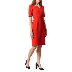 Plus Size Hobbs Bright Orange 'wren' Dress