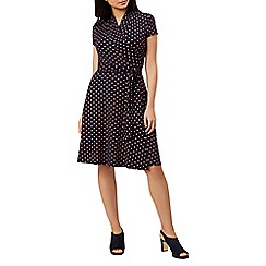 Hobbs - Navy 'April' wrap dress