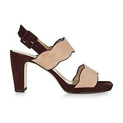 Hobbs - Wine 'Kate' scallop heel sandals