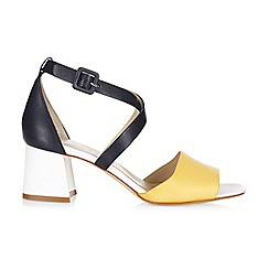 Hobbs - White 'Zoe' block heel sandals