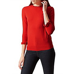 Hobbs - Bright orange 'Thea' sweater