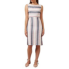 Hobbs - Ivory 'summer stripe' dress