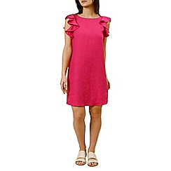 Hobbs - Pink 'Harper ruffle' dress