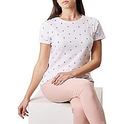 Hobbs - Ivory 'Pixie' t-shirt