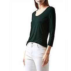 Hobbs - Dark green 'Daisy' top