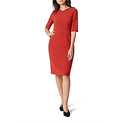 Hobbs - Orange 'Karissa' knee length pencil dress