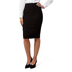 Hobbs - Black 'Helena pique' skirt