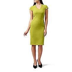 Hobbs - Yellow 'Louisa' knee length pencil dress