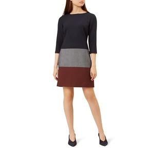 Hobbs Blue 'Simone' knee length shift dress