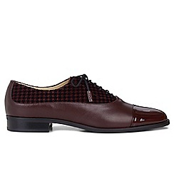 Hobbs - Maroon 'Kester' oxford shoes