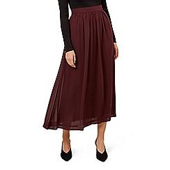 Hobbs - Maroon 'layla' skirt