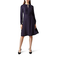 Hobbs - Navy 'Angelica' fit and flare dress