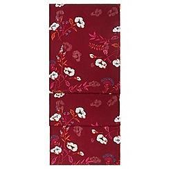 Hobbs - Maroon 'louise' scarf
